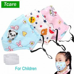 Kids Face Mask 1bag (1 face mask and 1 filter) Pink