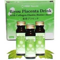 Biyou Placenta Drink with Collagen, Elastin, Biotin + more (8bottles 50mL each)