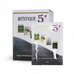 Mystique 5' Magic Herbal Hair Color Shampoo (Light Brown)