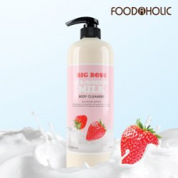 Foodholic Strawberry Milk Body Cleanser 1000mL