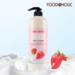 Foodholic Strawberry Milk Body Cleanser 1000mL